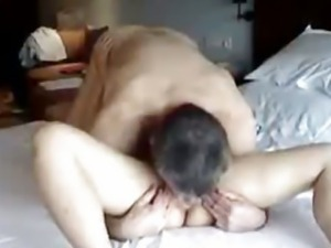 Interracial couple hotel sex tape