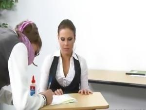 innocent coed punish the teacher