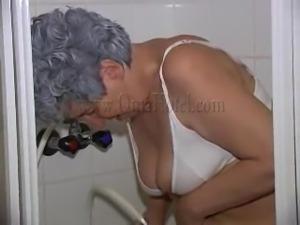 hot granny having a piss