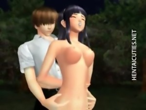 Sexy 3D hentai chick gets fucked