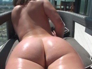 sexy brunette receives an anal