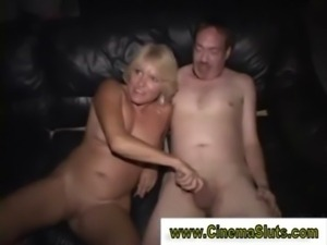 Mature blonde slut gets cock riding in reality session free