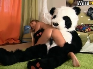 panda loves how his girl behaves