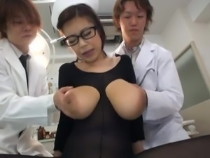 nylon covered asian nurse