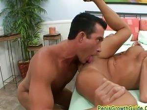 Big tits Nikita squirts on big cock
