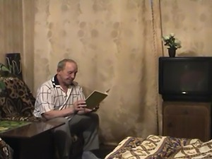 Russian young blond fucks grandpa