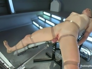 ami emerson really loves being fucked by machines!