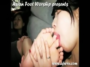 Beautiful Asian Foot Worship free