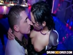 Filthy drunken sluts fucking at the costume party