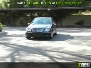 Sexy High Class Brunette Masturbates With A Sex Toy In A Luxurious Car free