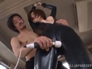 playing with a tied japanese babe