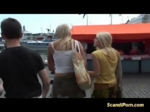 Two scandinavian babes fucked free