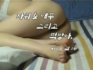 Korean man and a girl that loves receiving hard cock free