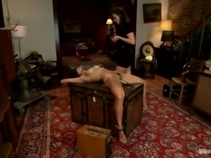 lesbian domination with two delicious milfs