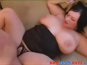 Young fatty with huge boobs gets fucked