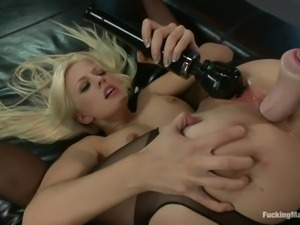 france blonde babe and her fucking machine