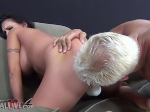 huge boobs brunette milf and her sextoys