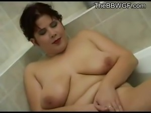 Fat Chubby Teen Girlfriend masturbating in the shower