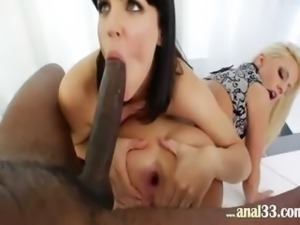 amazing anal babes and brutal black cok