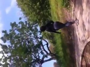 Juicy Black ass in Spandex