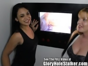 Pretty thin Latina Julia at the gloryhole free