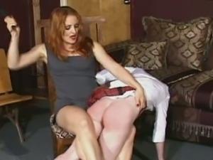 Three horny schoolgirls spanking