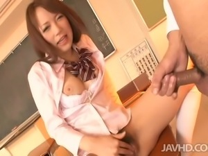asian schoolgirl has a wet and hot pussy