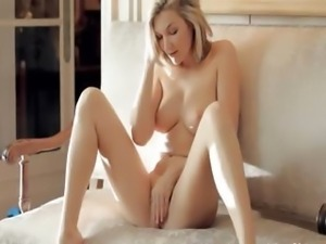 sweet blonde with natural boobs