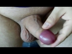 Uncut cock masturbation, foreskin play and cum
