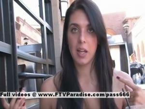 Claire tender brunette public flashing