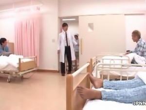 Cute teen nurse from Japan gets