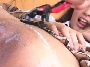 schoolgirl getting her camel toe soaped