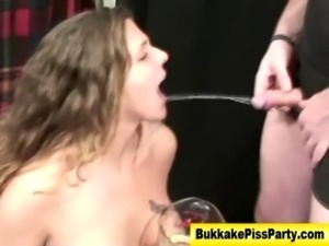 Watersports fetish slut piss drench free