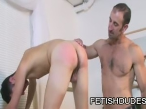 Skyler Grey And Steven Richards - Horny Dude Ass Play While DILF watches