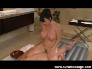 Nuru Massage Fuck with Big Tits MILF Rayveness free