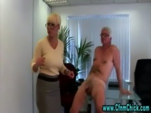 British office hotties get a cumshot free