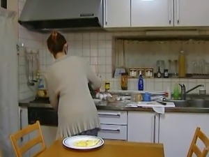 Housewife in the morning