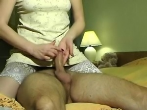 Horny wife playing and fucking
