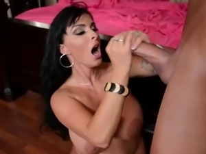 Holly Halston gets cumshot from big dick