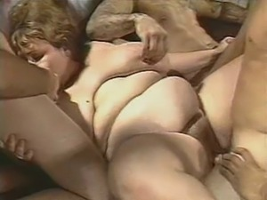 BBW fat gang bang