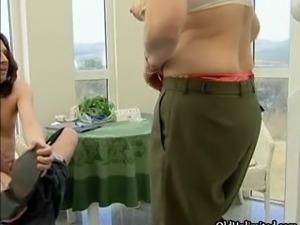 Horny mature slut goes crazy sucking