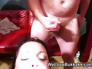 British MILF deepthroats and eats cum