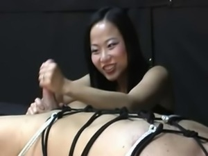 Asian harsh handjob 2