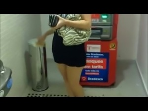 Teasing at the ATM