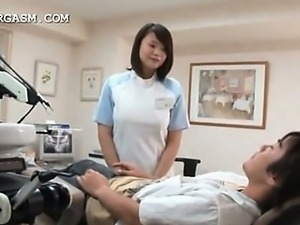 Asian doctor seduced into hot sex by horny patient