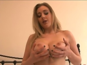 Megan sweets strips and shows of body