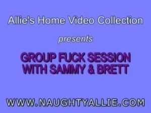 Naughty Allie - Group Fuck session with Sammy and Brett. free