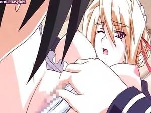 Anime princess rubbing a cock