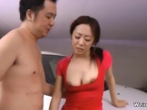 Sexy asian babe gets horny showing off