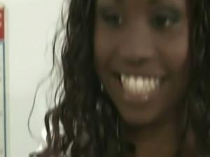 Ebony tits interracial blowjob video free